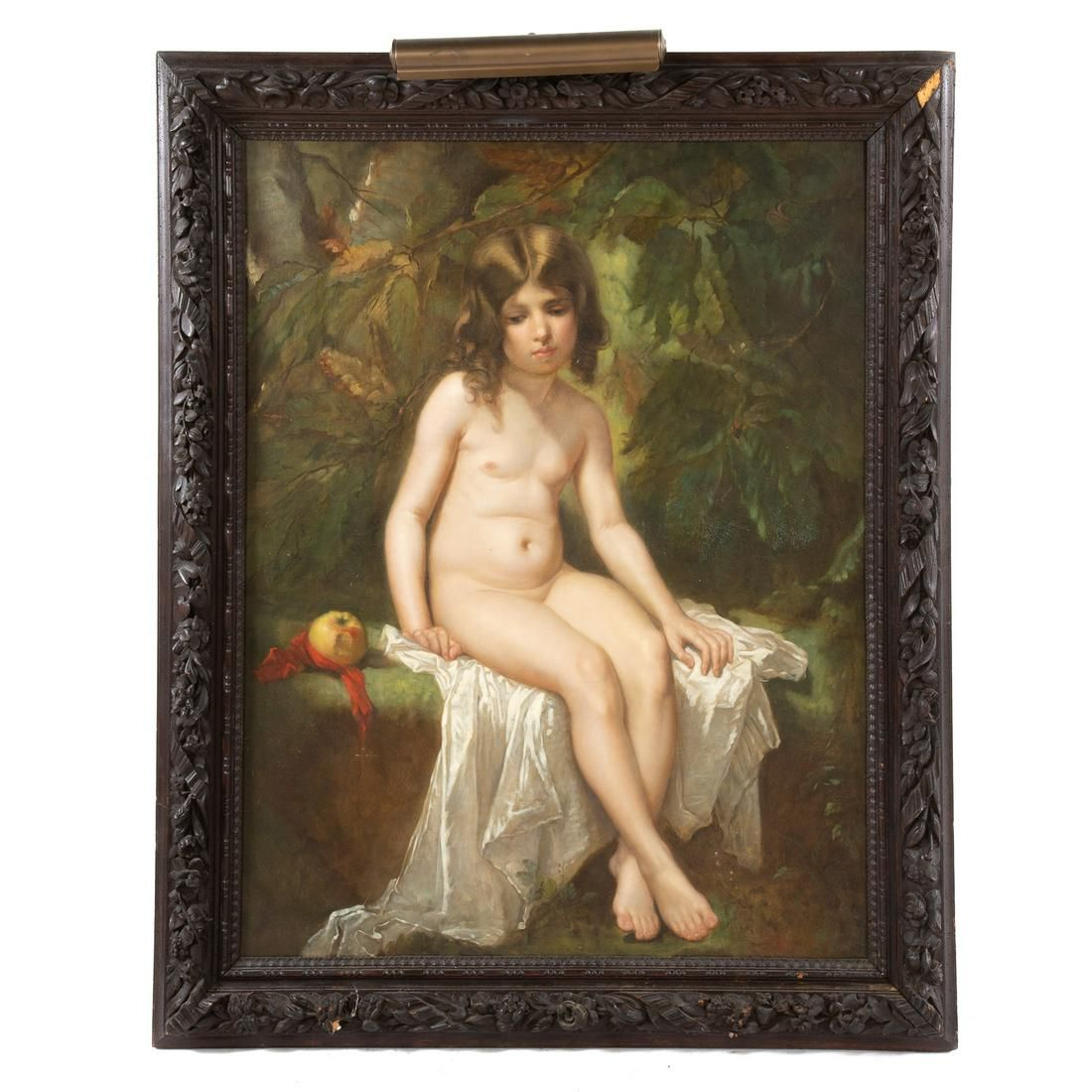 French School, Late 19th c. Eve Ashamed