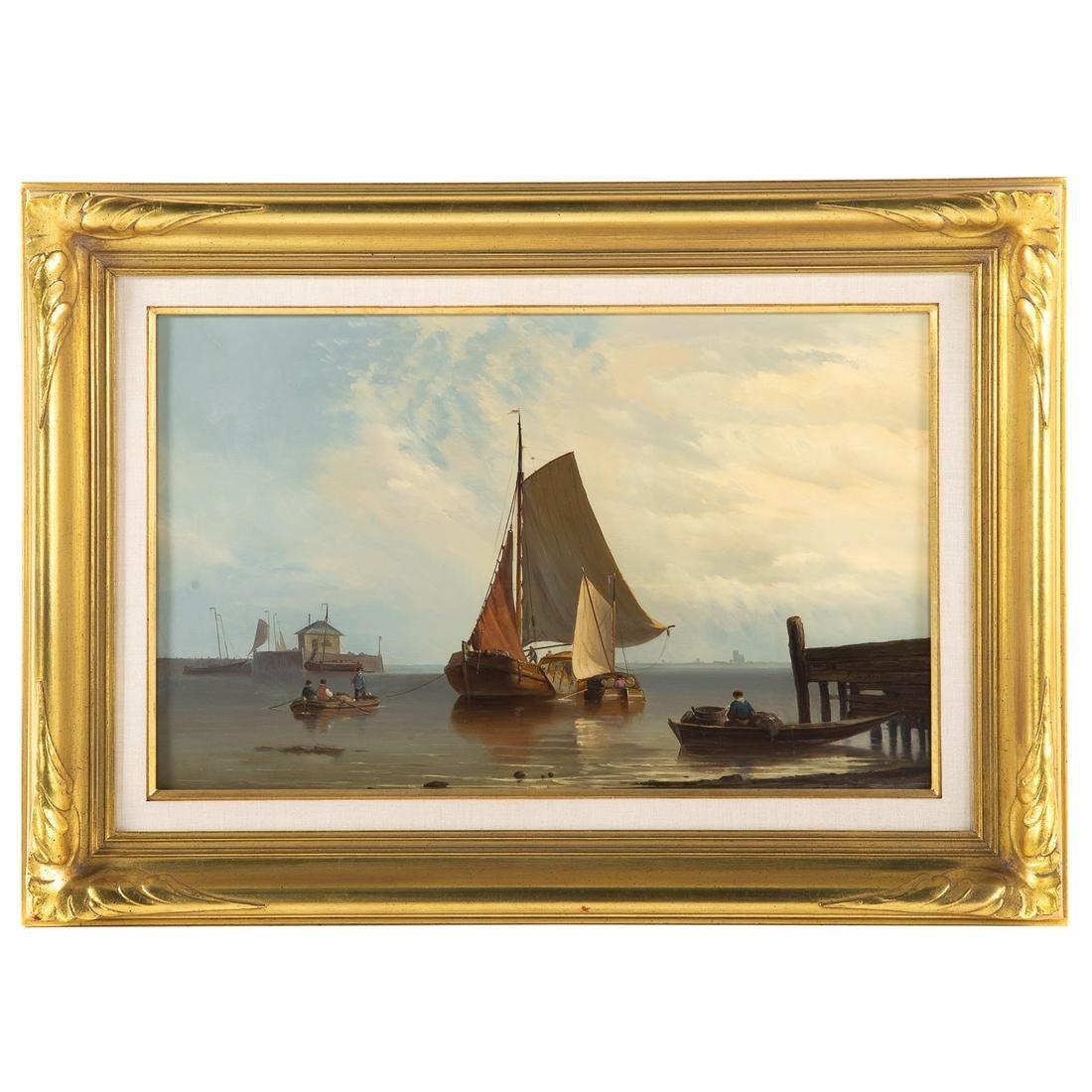 J. De Koster. Fishing Vessels At Shoreline