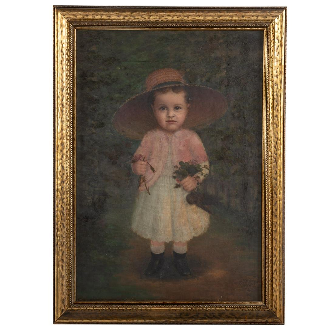 American School, 19th c. Portrait Of A Girl