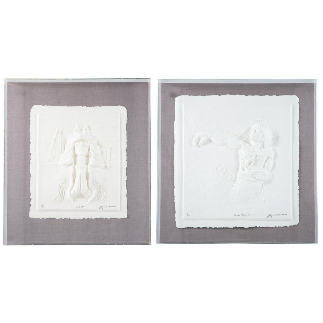 Alvin K. Marshall. Two Cast Paper Reliefs