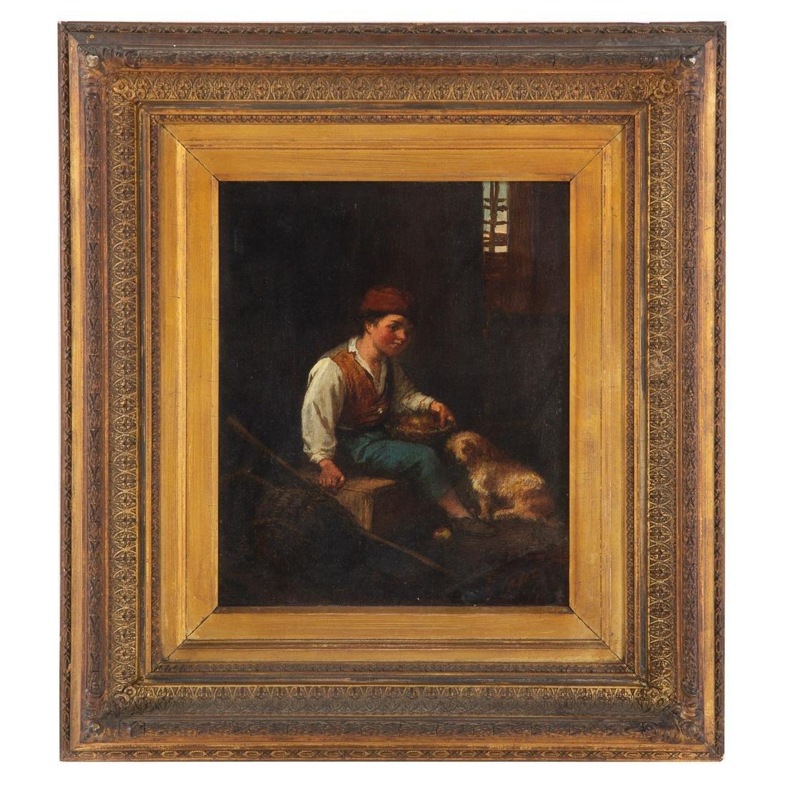 Giacomo Casa. Peasant Boy With His Dog