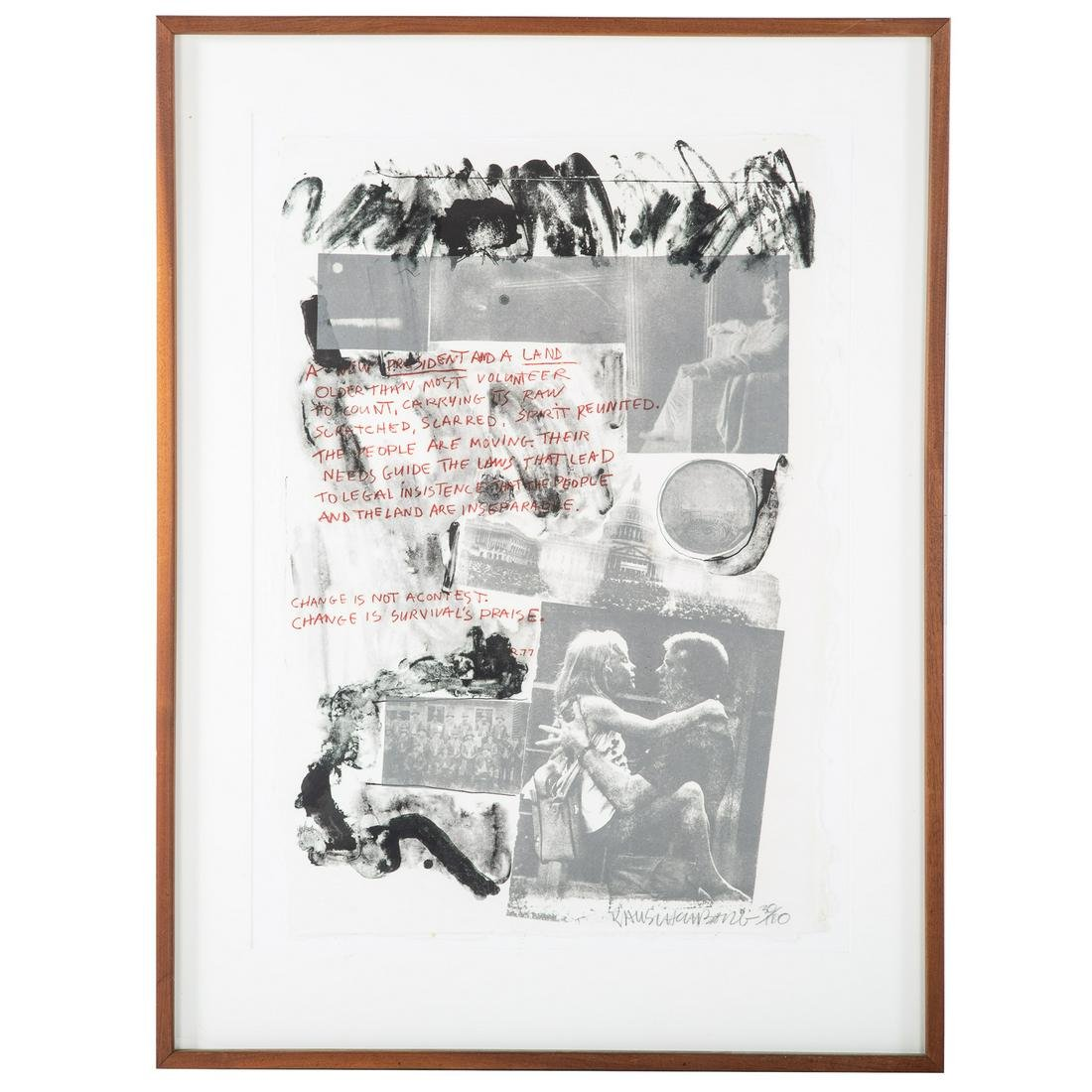 "Robert Rauschenberg. ""Presidential Election 1977"""