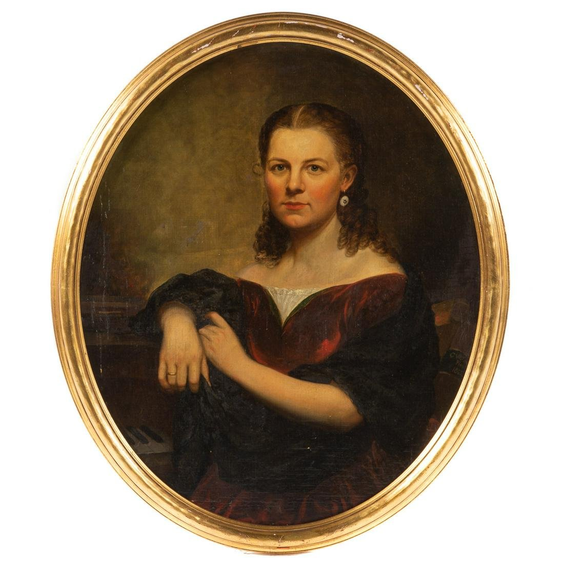 Charles Wesley Jarvis. Portrait Of Mary M. Jarvis