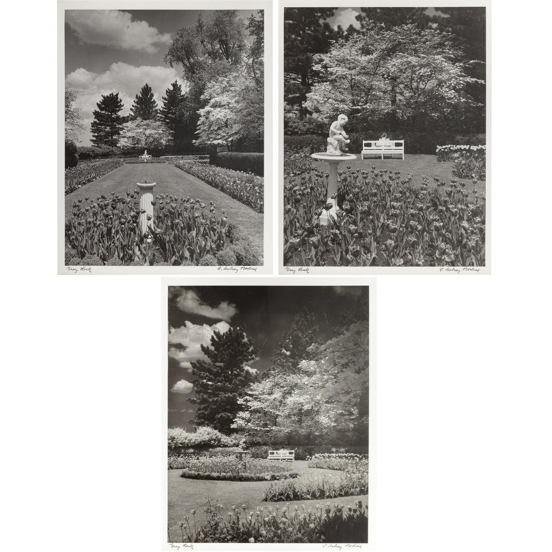 "A. Aubrey Bodine. ""Grey Rock,"" Three Photographs"