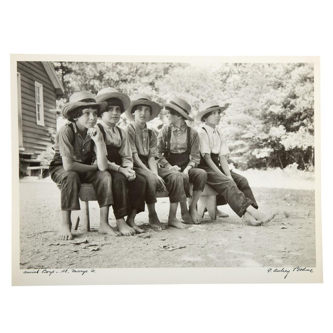 A. Aubrey Bodine. Amish Boys-St. Mary