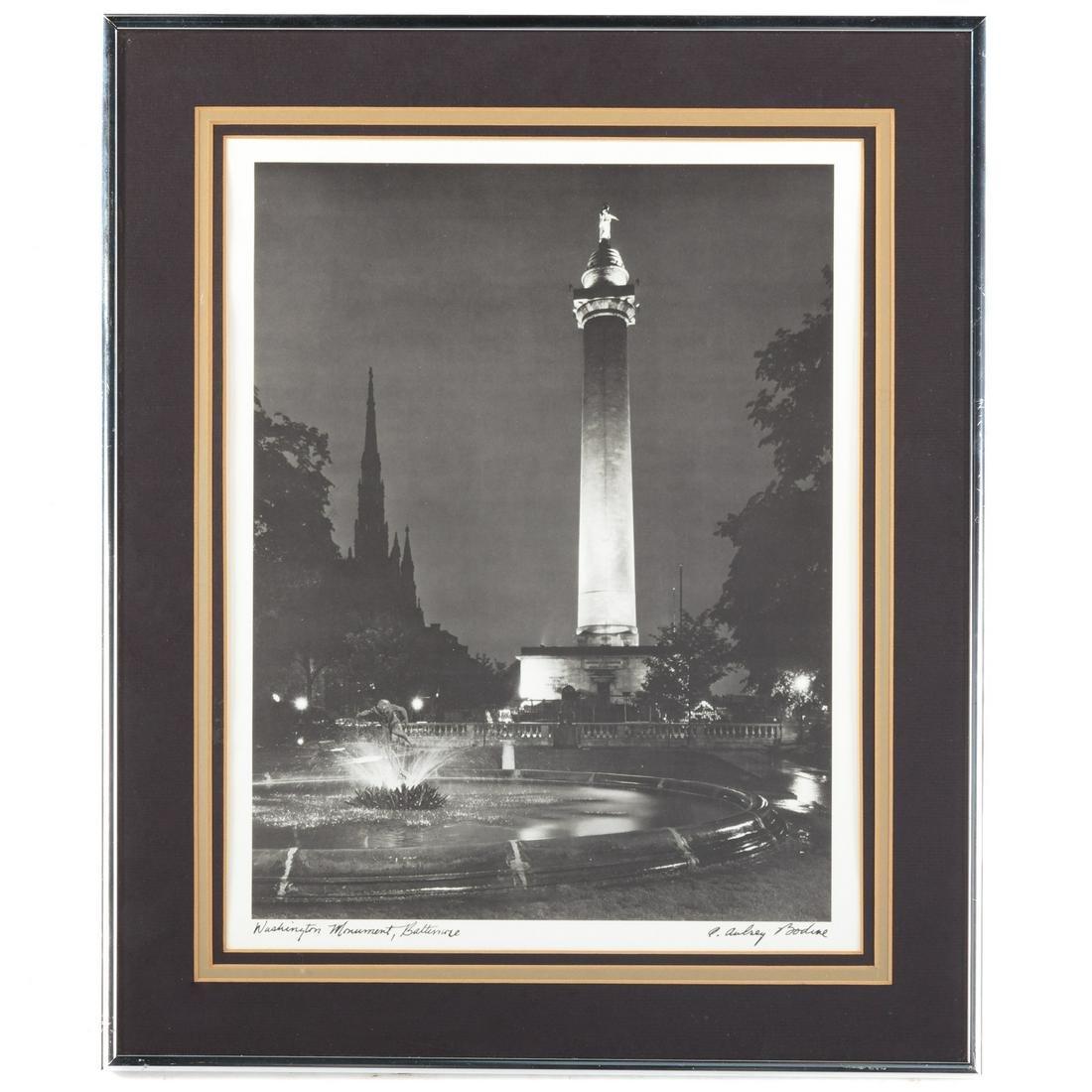 "A. Aubrey Bodine. ""Washington Monument, Baltimore"""
