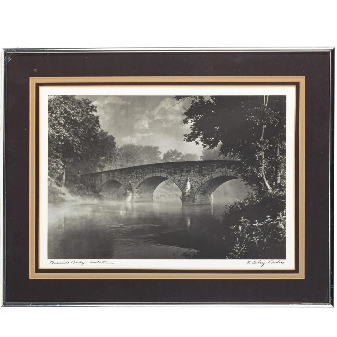"A. Aubrey Bodine. ""Burnside Bridge-Antietam"""