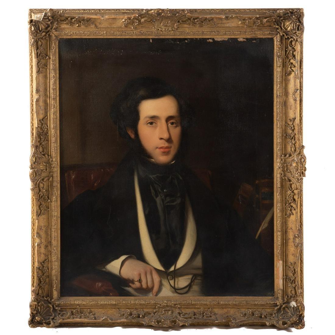 French School, 19th c. Portrait Of A Man