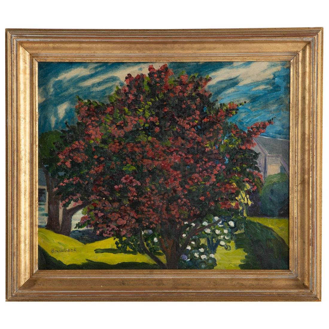 "Louise Upton Brumbeck. ""Red Flowering Tree"""