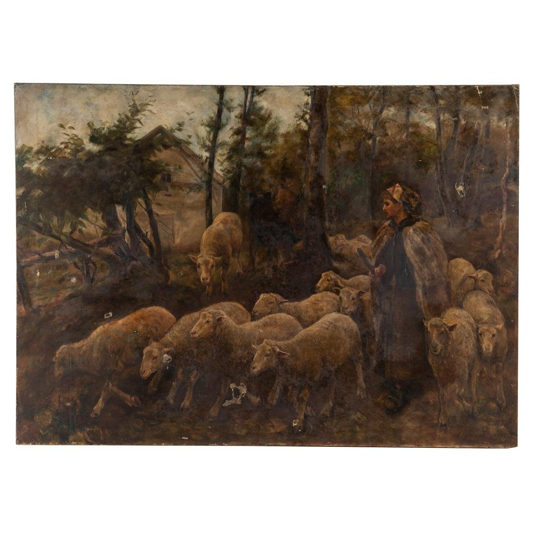 "E.M. Angelo, after G.S. Truesdell. ""Shepherdess.."""