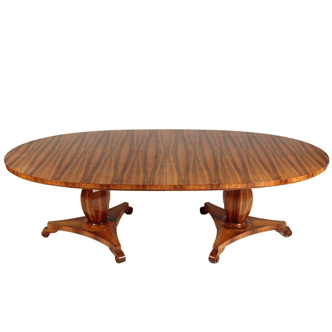 Continental Zebra Wood Dining Table