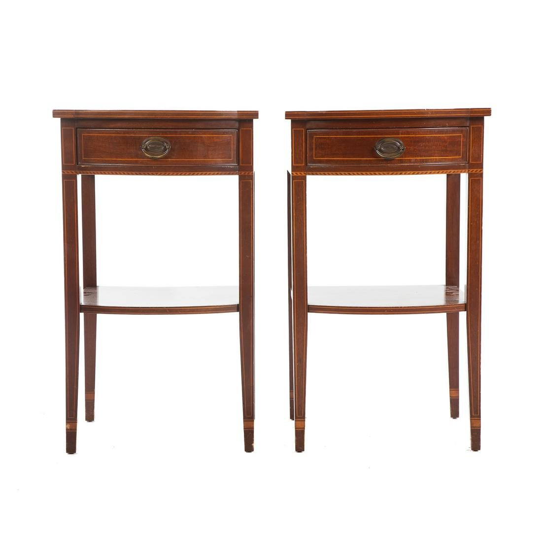 Pair Of Biggs Federal Style Mahogany Night Stands