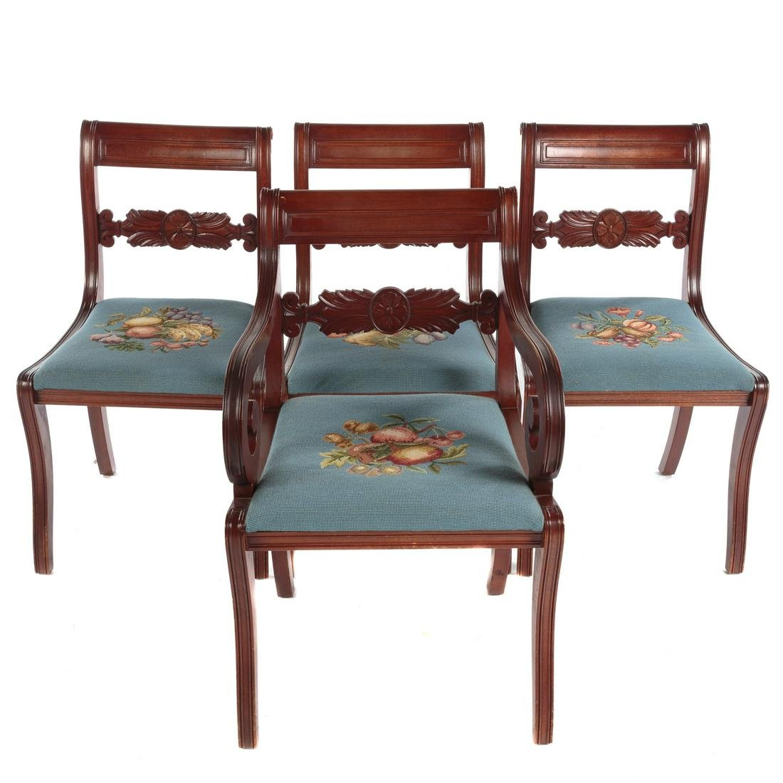 Set Of Four Biggs Classical Style Chairs