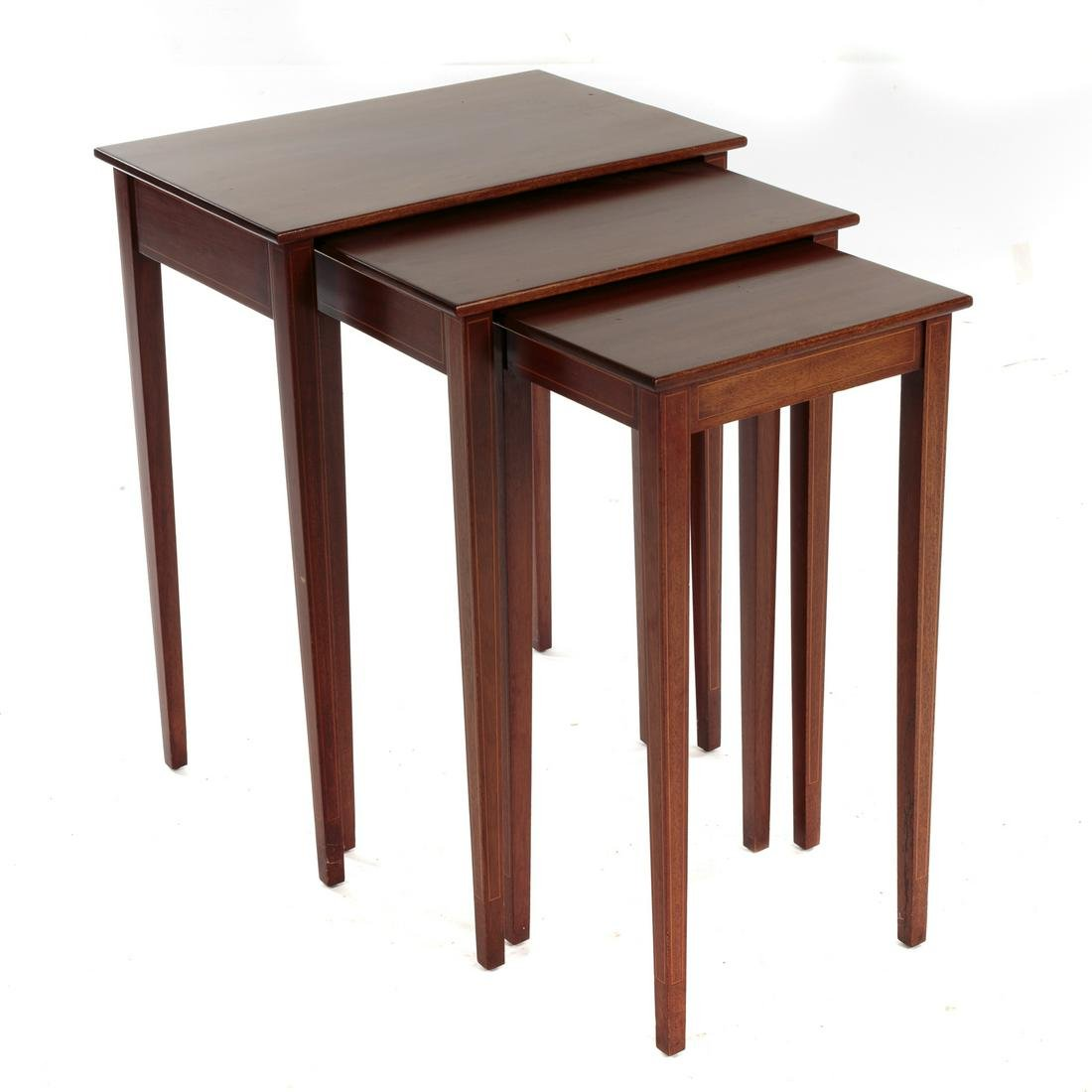 Biggs Federal Style Mahogany Nest Of Three Tables