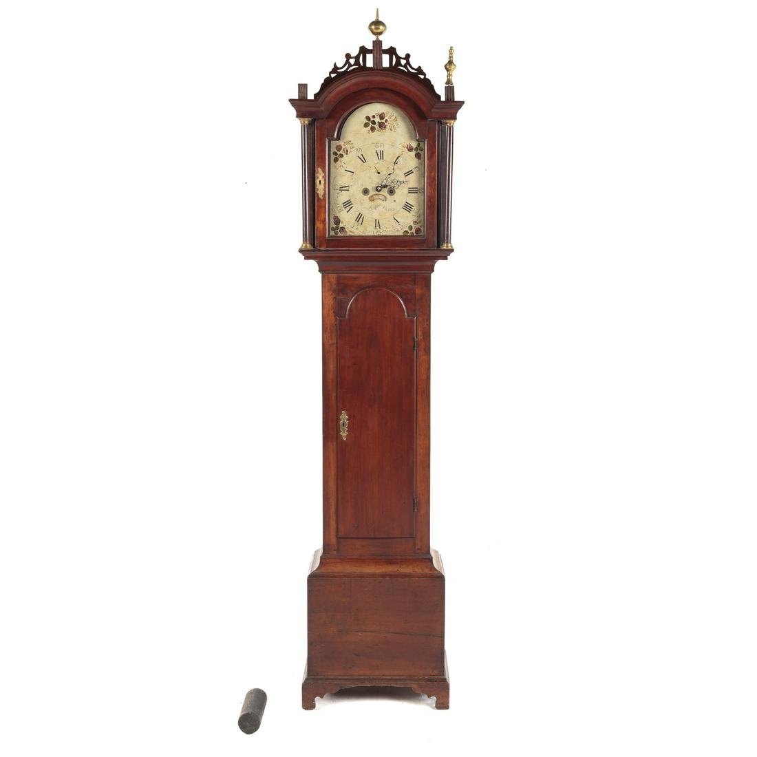 Federal Cherry Tall Case Clock,