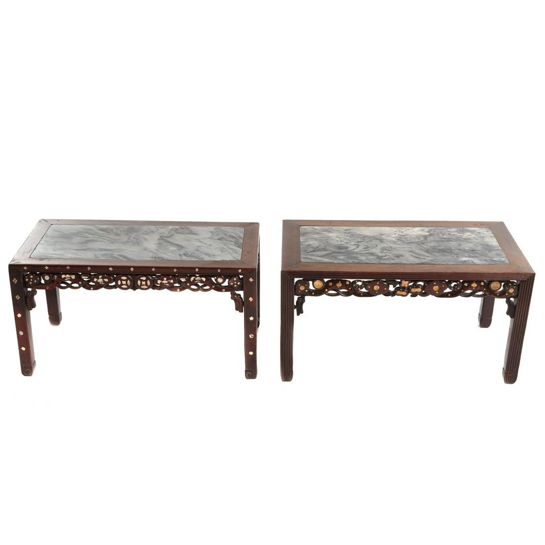 Two Similar Chinese Rosewood Scholars Tables