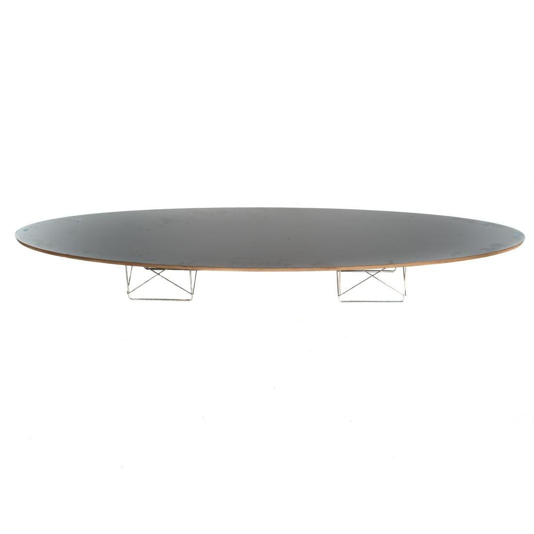 Eames Black Laminated Wood Surfboard Table