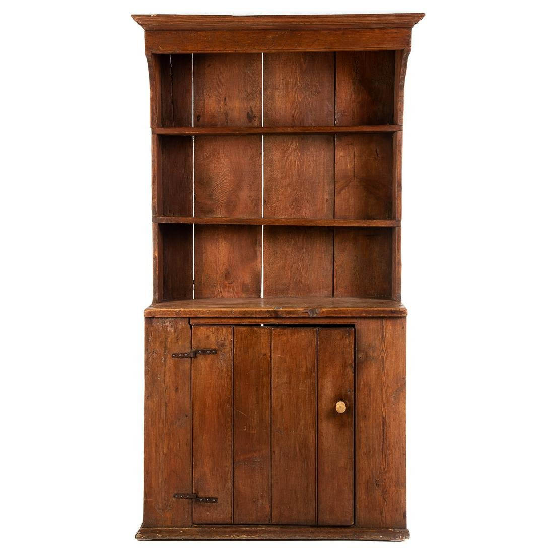American Vernacular Pine Pewter Cabinet