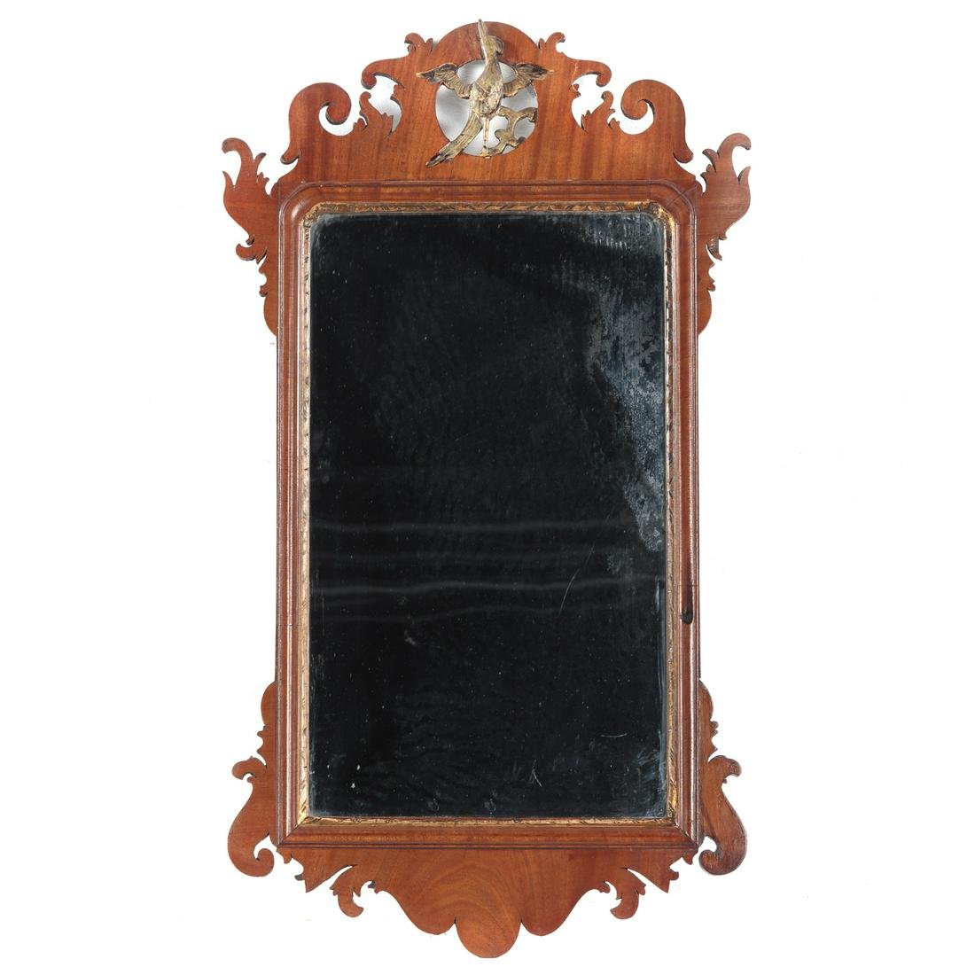 George III Chippendale Style Mahogany Mirror