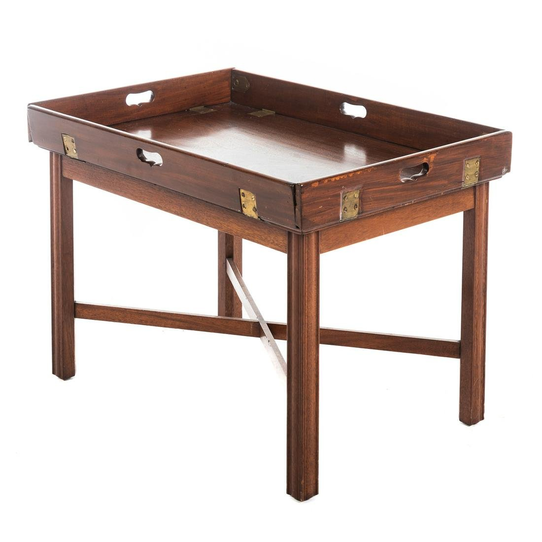 George III Style Mahogany Butler's Tray Table