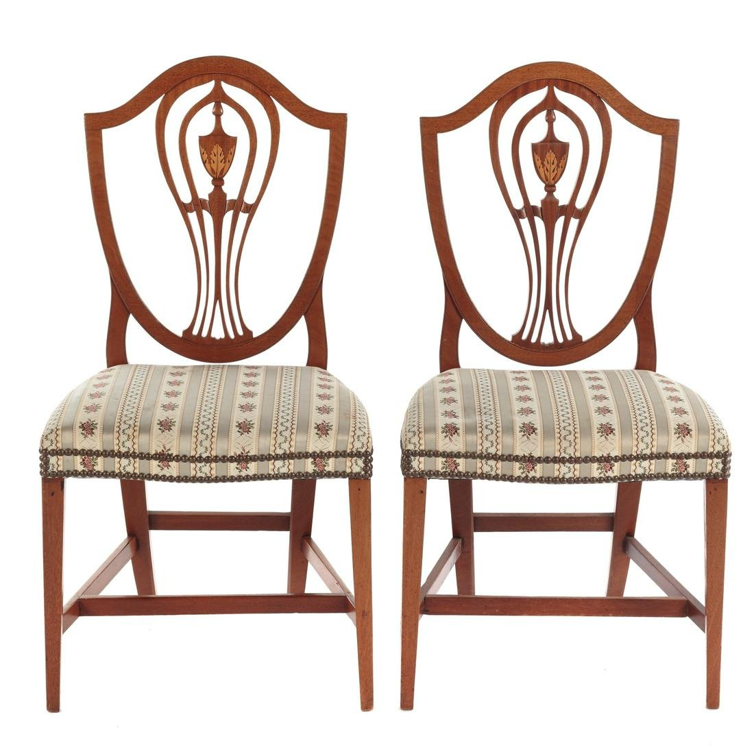 Pair Connecticut Federal Mahogany Side Chairs