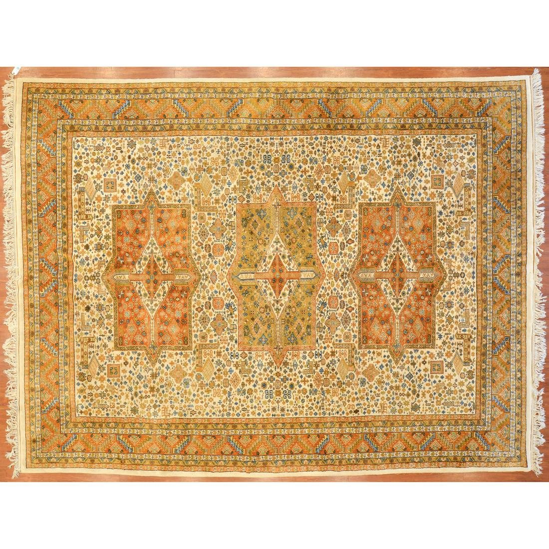 Indo Jaipur Kazak Carpet, India, 10.4 x 13.4