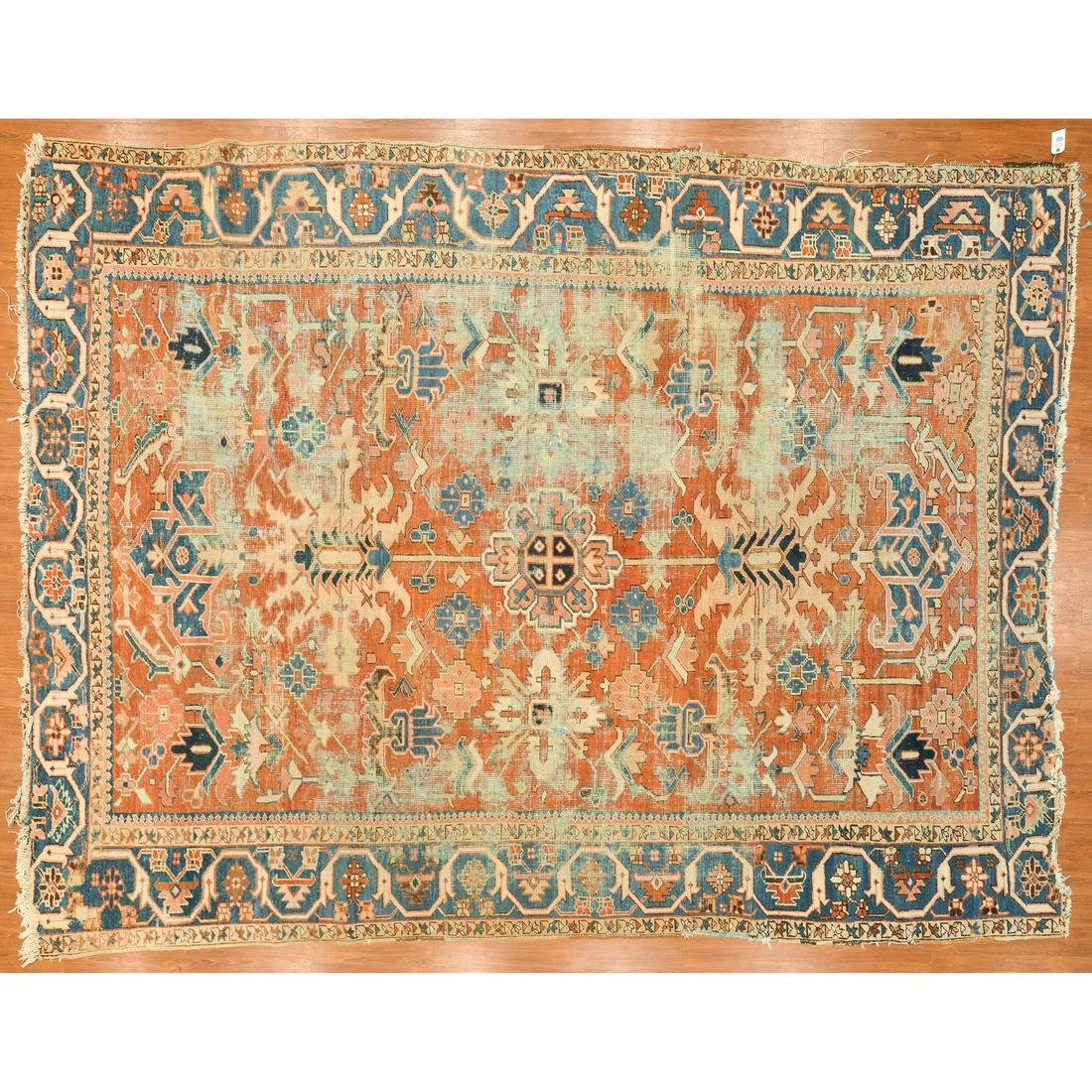 Antique Serapi Rug, Persia, 9.6 x 12.5