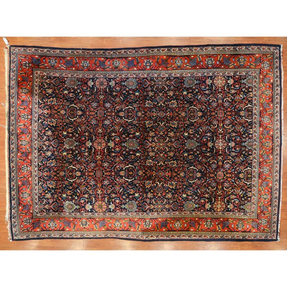 Semi-Antique Bijar Rug, 8.7 x 12.2