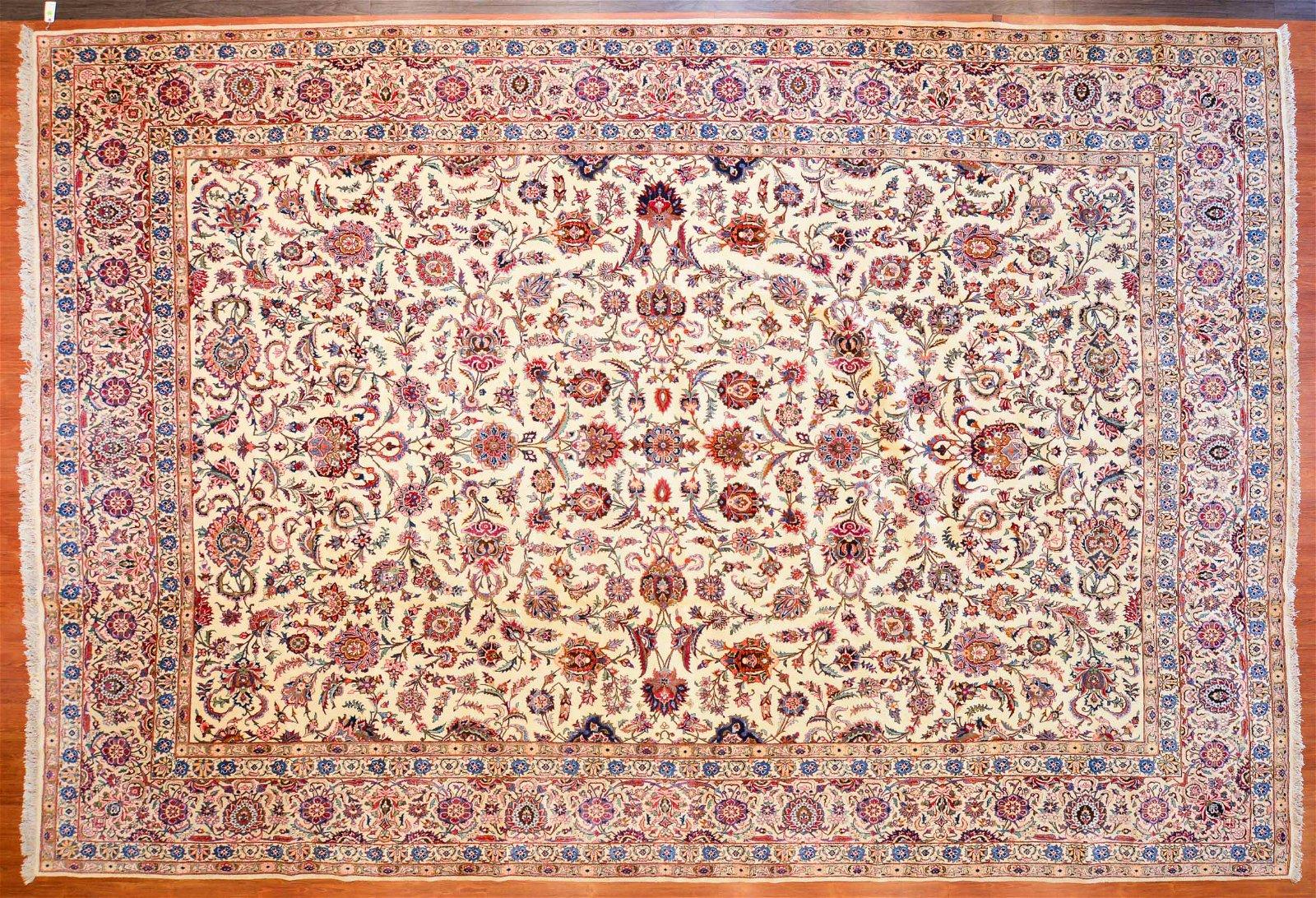 Keshan Carpet, Persia, 11.2 x 16.6