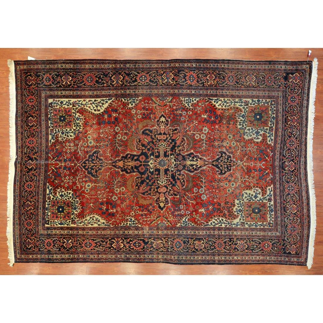Antique Fereghan Sarouk Carpet, Persia, 8.7 x 12.4