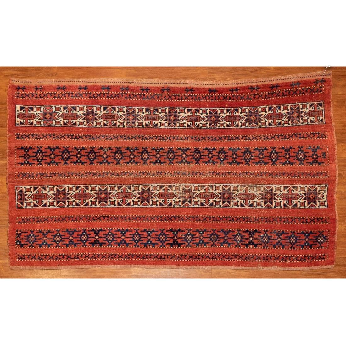 Turkeman Rug, Turkestan, 4 x 6.5
