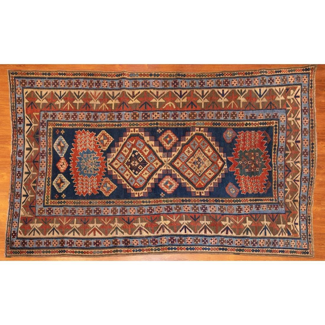 Antique Kazak Rug, Caucusus, 4.10 x 7.6