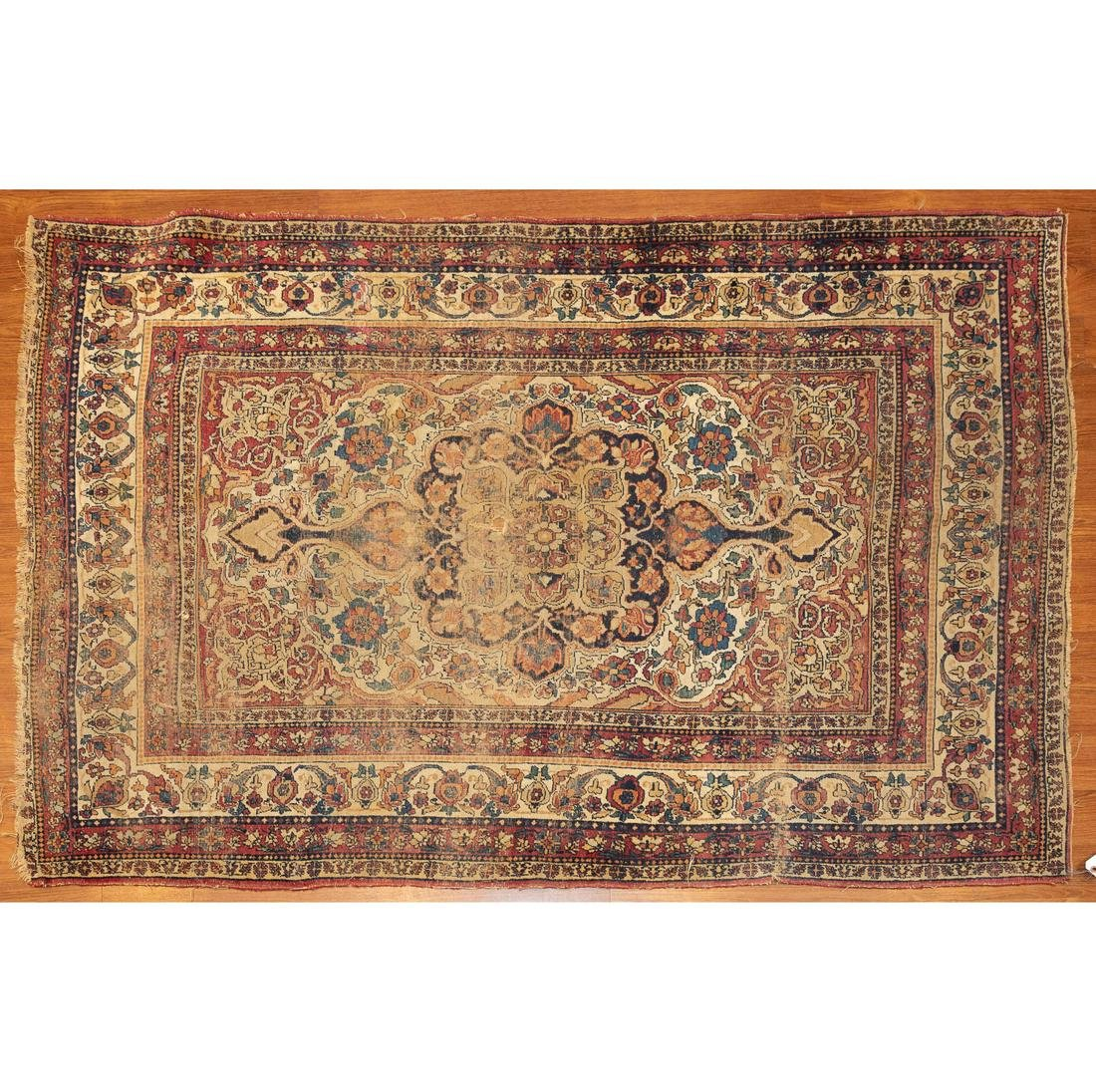 Antique Lavar Kerman Rug, Persia, 4.3 x 6.2