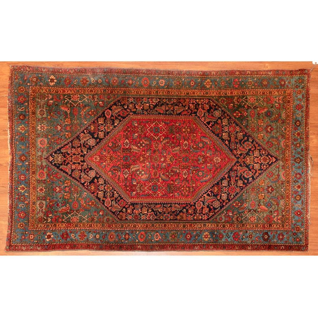 Antique Bijar Rug, Persia, 4.3 x 6.3