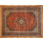 Fine Kashan Kork Wool Carpet, Persia, 9.11 x 13.4
