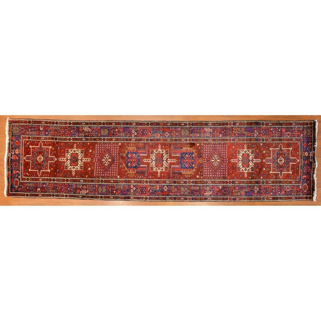 Heriz Runner, Persia, 3.7 x 13.9