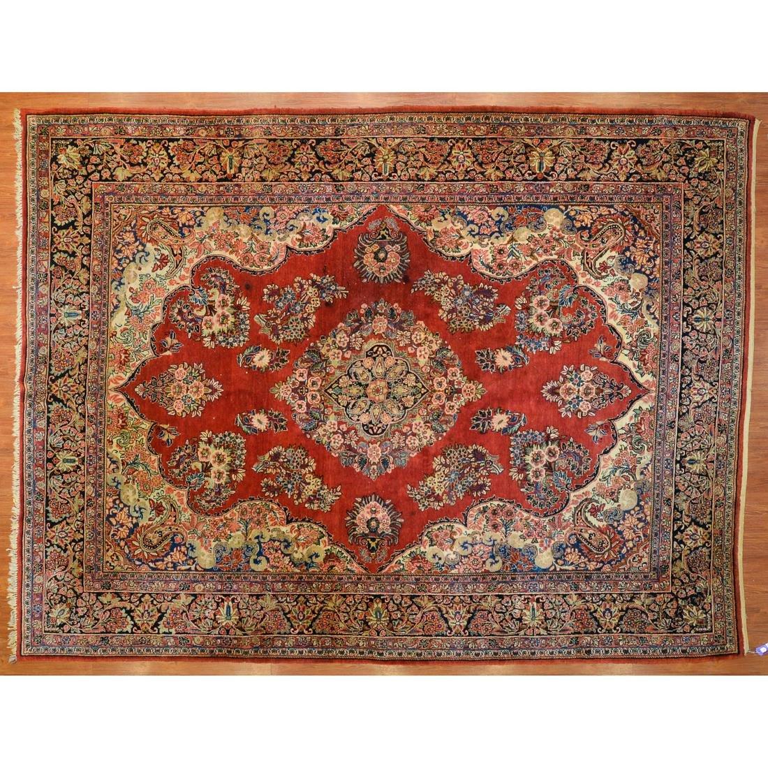 Semi-Antique Sarouk Carpet, Persia, 9.2 x 11.11