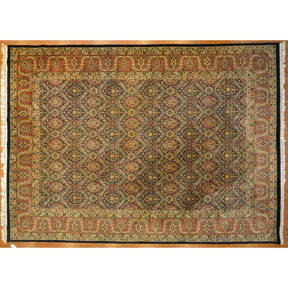 Indo Tabriz Carpet, India, 10 x 13.10