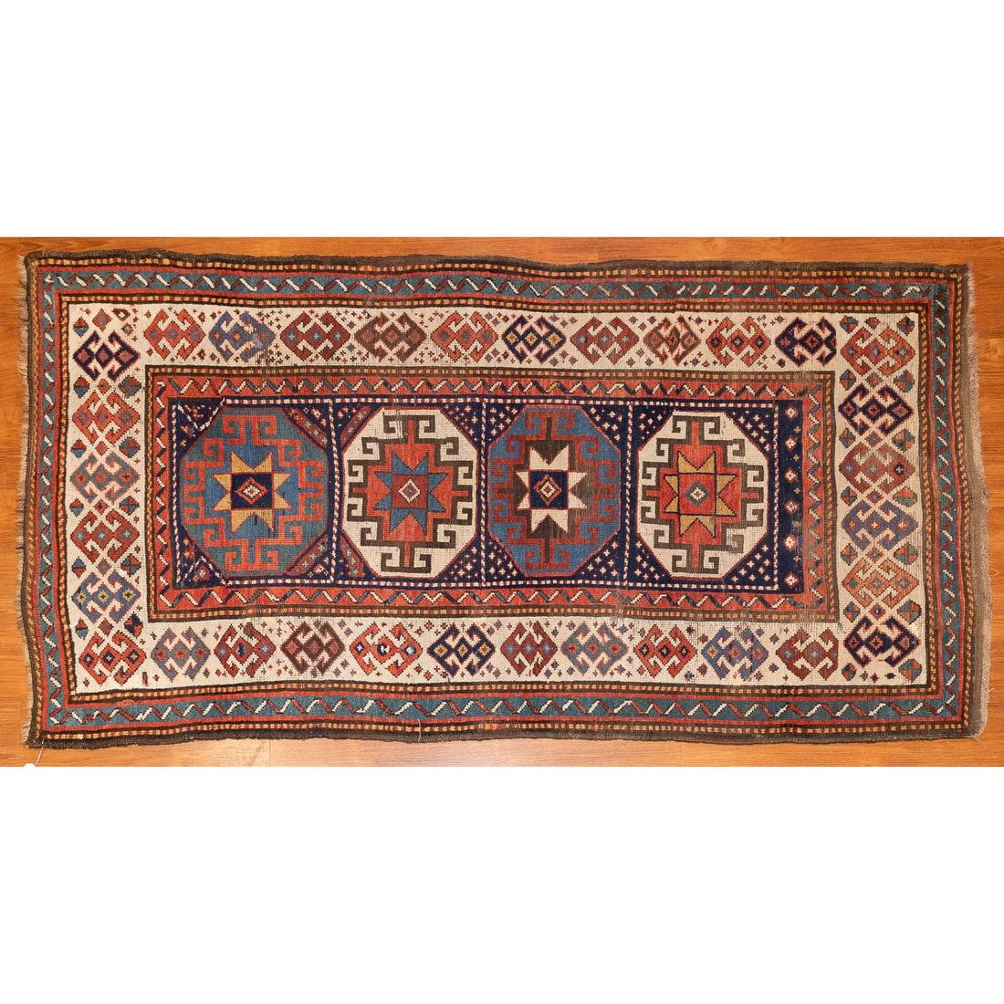 Antique Kazak Rug, Caucasus, 3.10 x 7.1