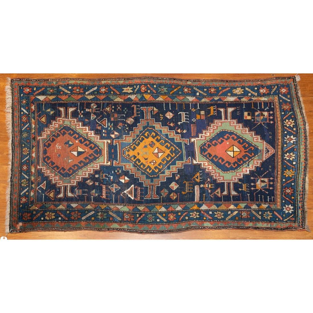 Antique Kazak Rug, Persia, 2.9 x 6.5