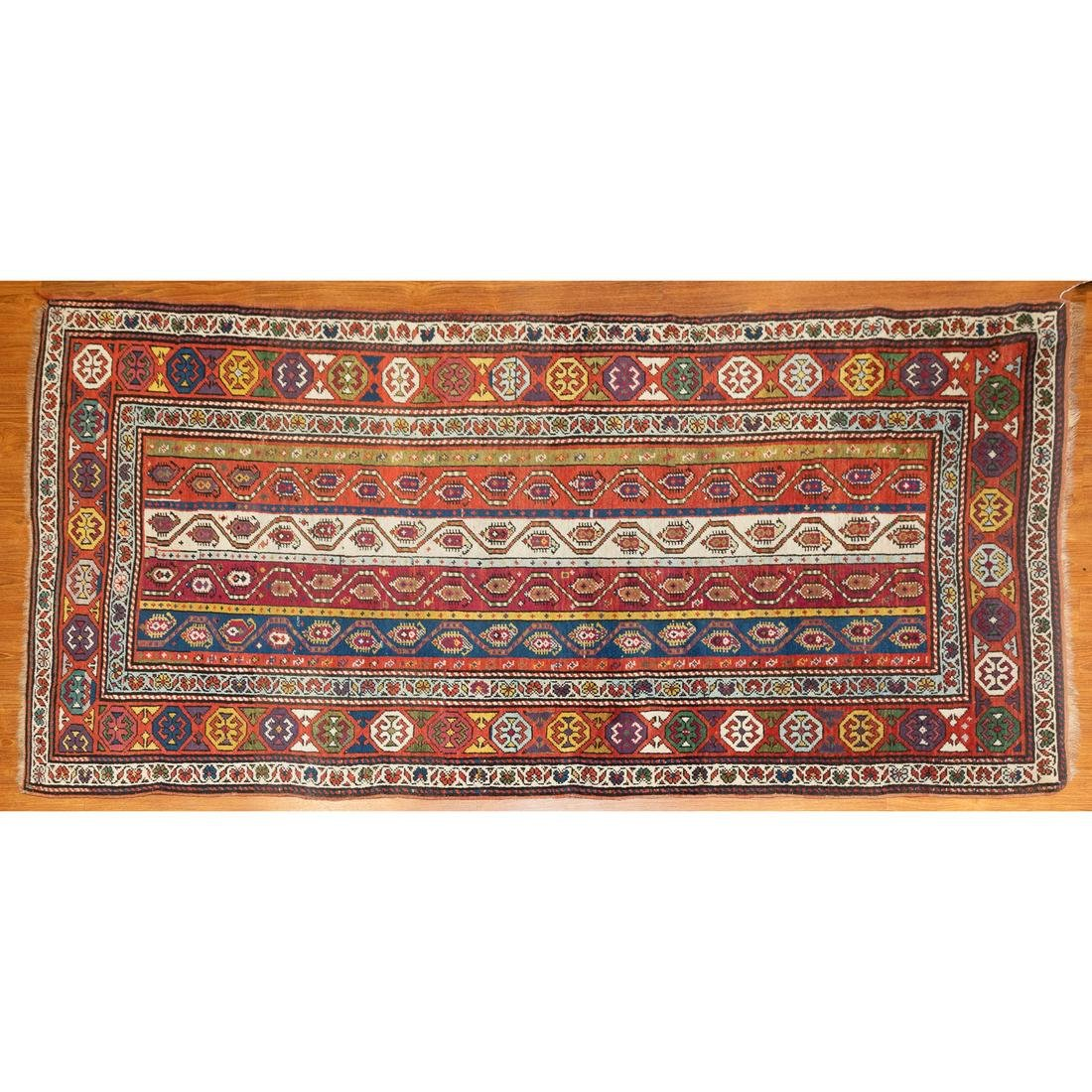 Antique Genje Rug, Caucasus, 3.8 x 7.7