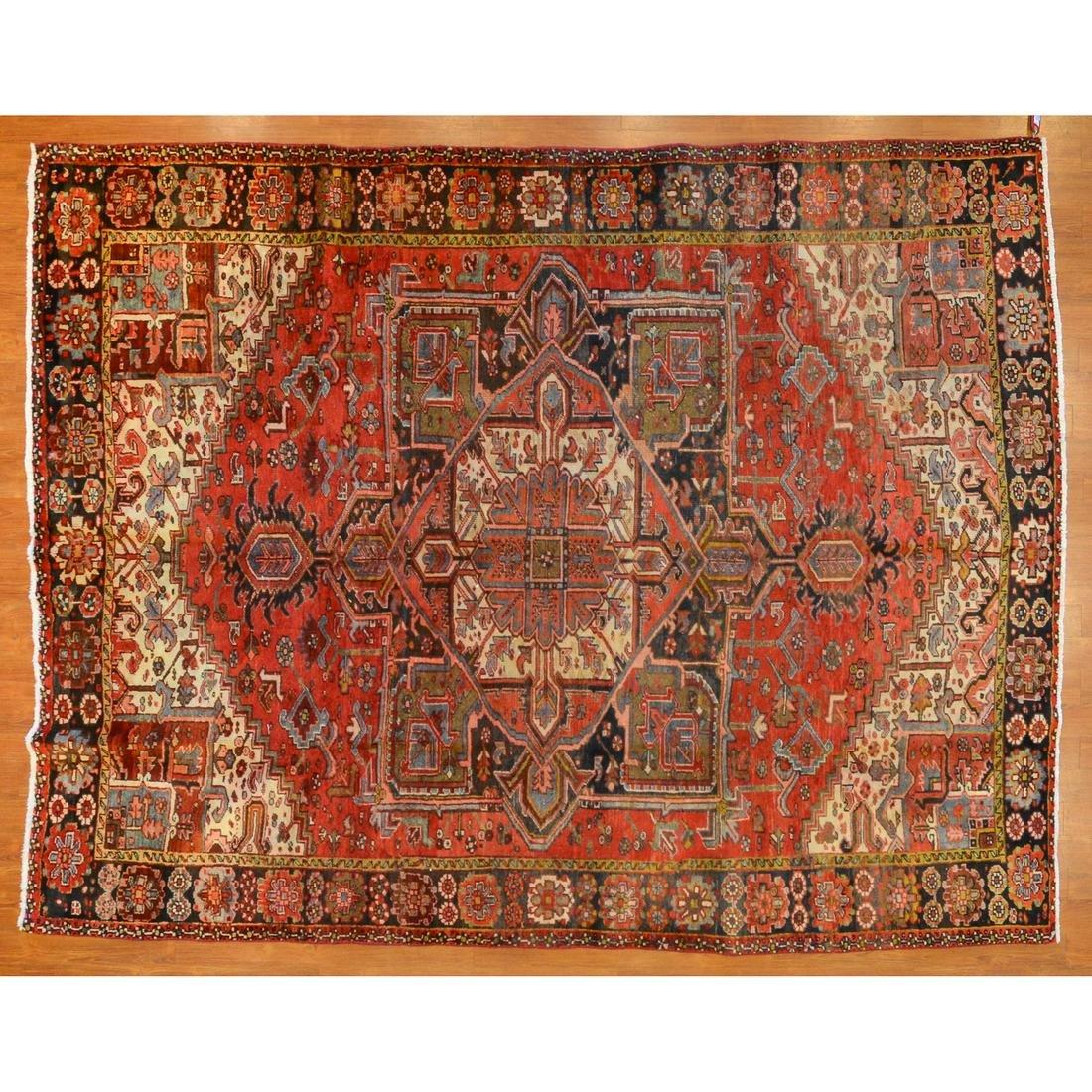 Gorevan Heriz Rug, Persia, 7.11 x 10.3