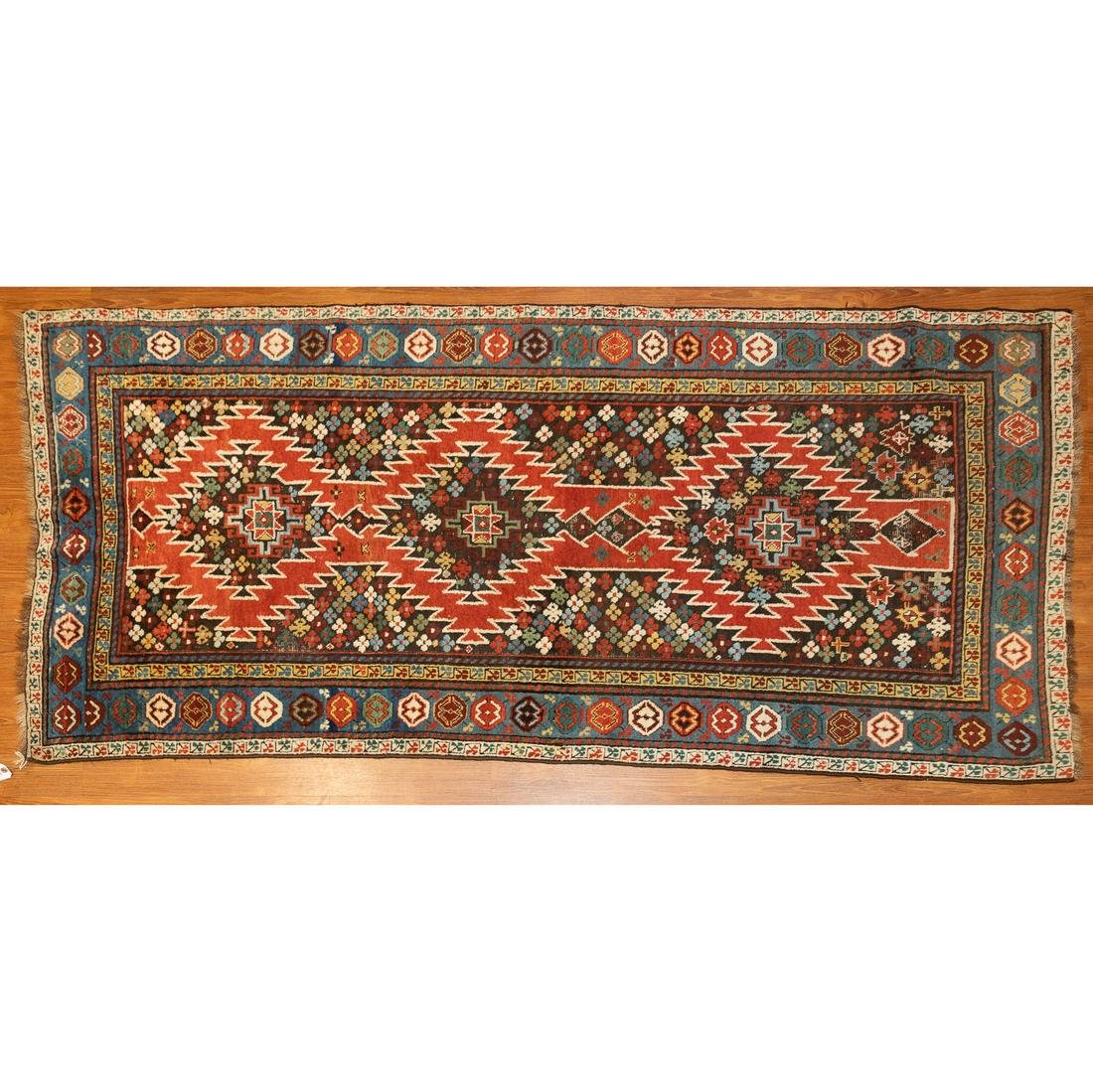 Antique Kuba Rug, Caucasus, 3.8 x 7.6