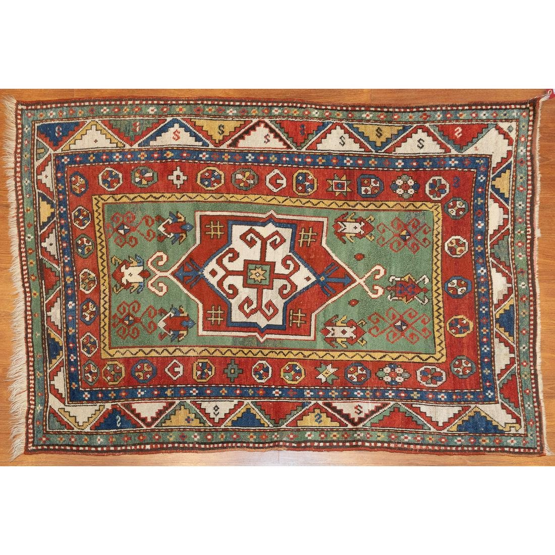 Antique Kazak Rug, Caucasus, 3.9 x 5.1