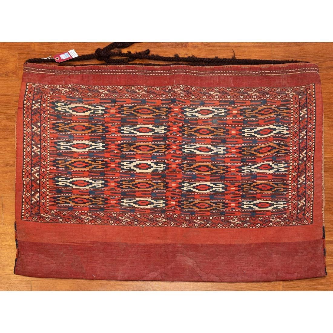 Turkeman Soumac Tent Bag, Turkestan, 3.6 x 3.1