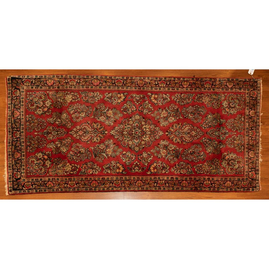 Semi-Antique Sarouk Rug, Persia, 3.3 x 6.9