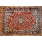 Kashan Carpet, Persia, 11 x 16