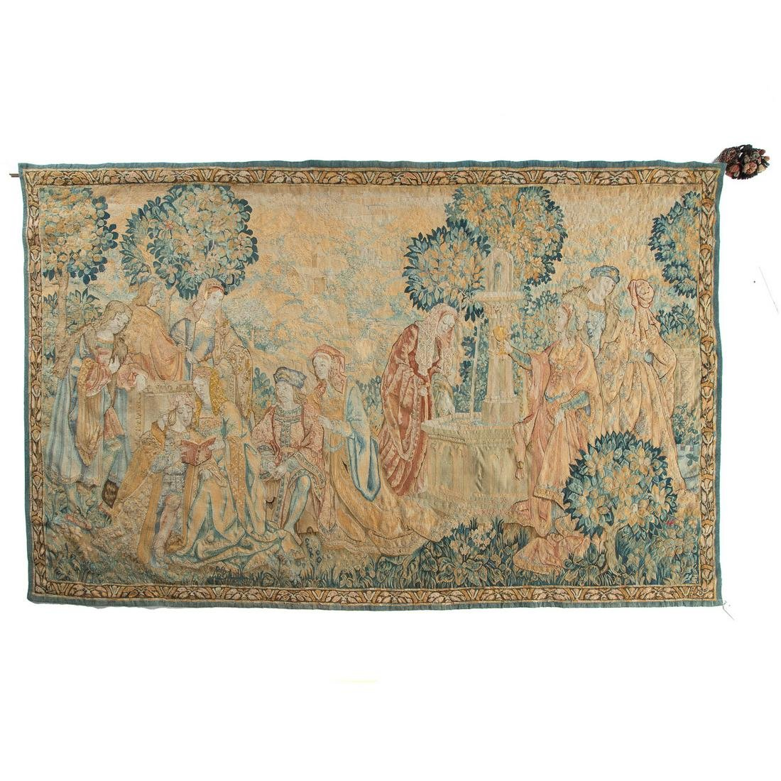 Flemish Manner Woven Tapestry