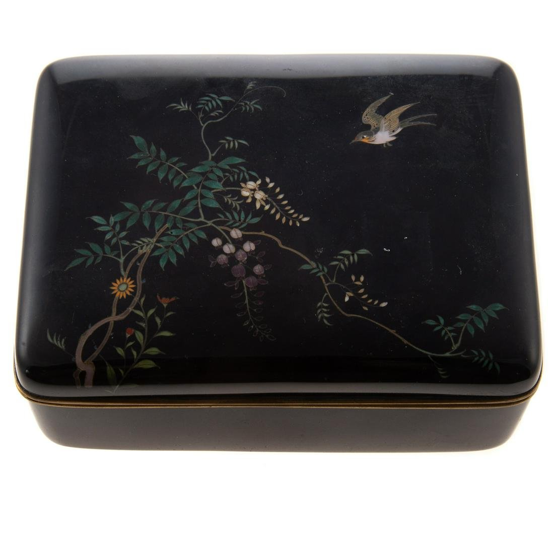 Japanese Cloisonne Enamel Box