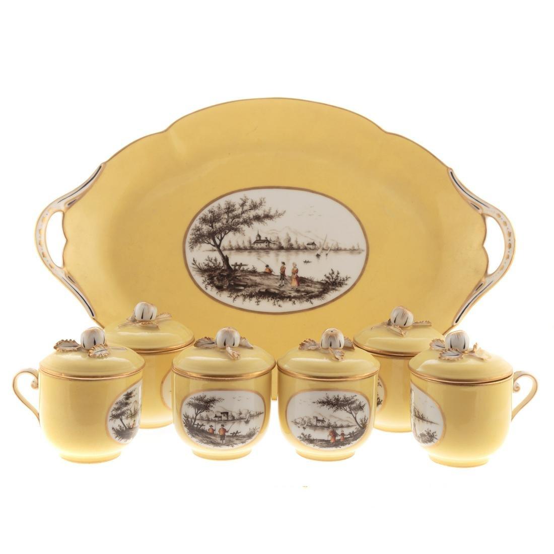 French Porcelain Pot de Creme Service